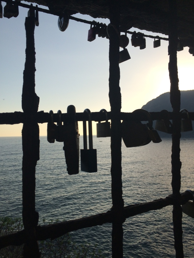 """Locks of Love"" discovered on our hike from Monterosso to Vernazza"