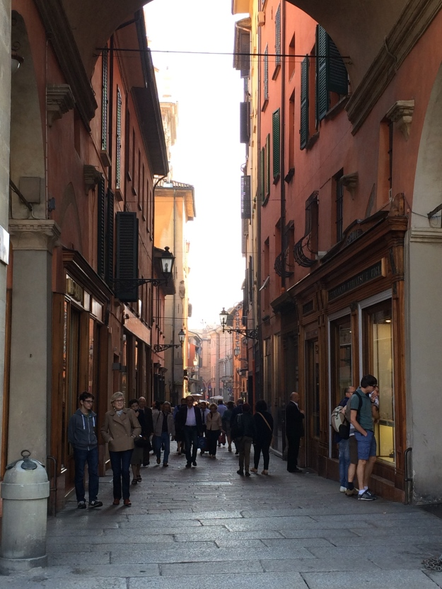 Medieval streets in Bologna