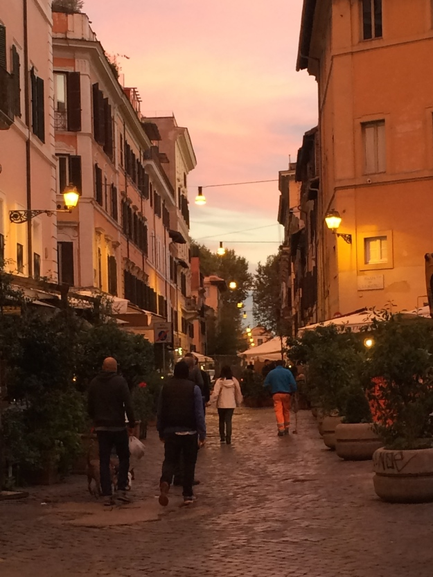 Sunset in Rome's Trastevere